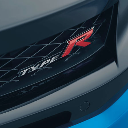 Front facing Honda Civic Type R.