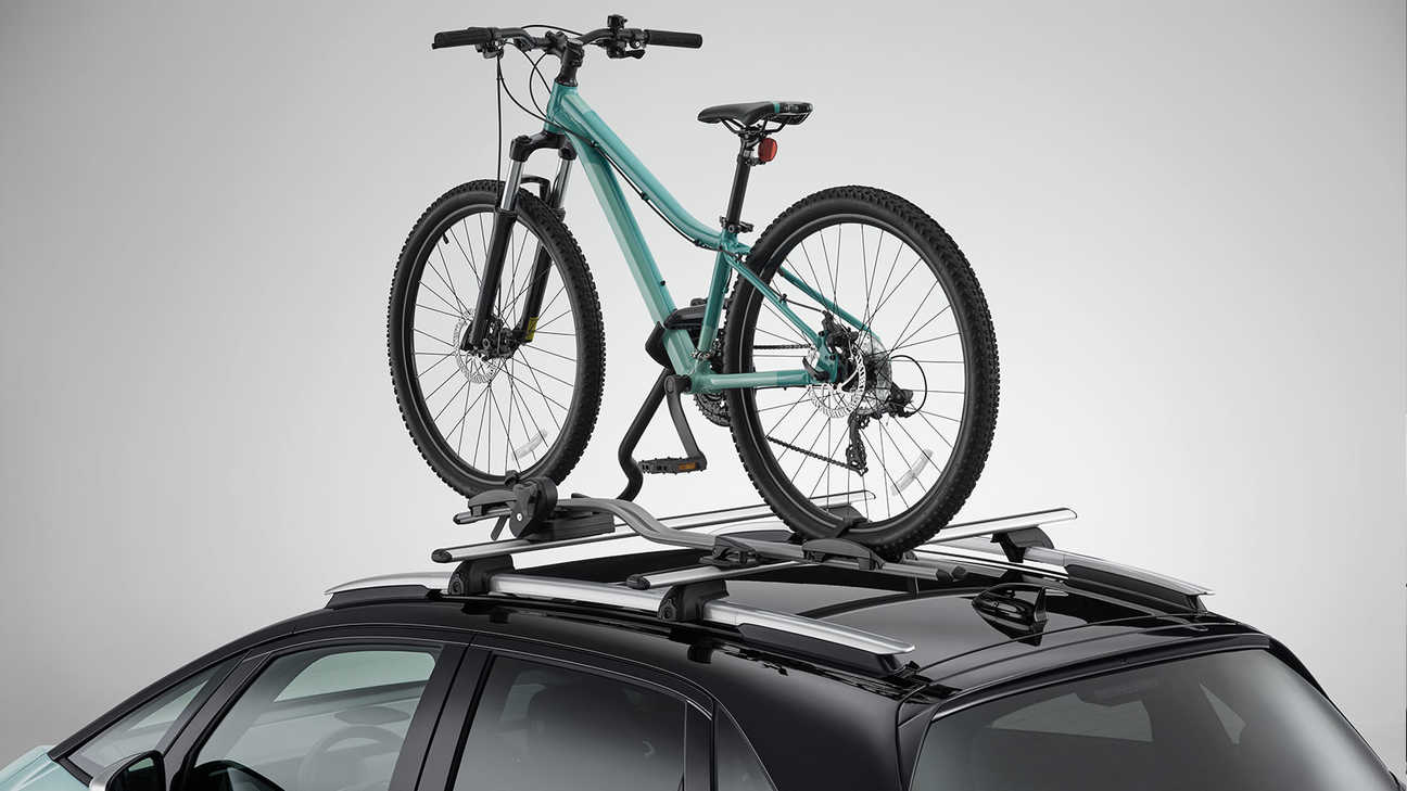Close up of Honda Jazz Hybrid Bicycle Carrier